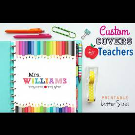 Great Custom Teacher Planners Custom Teacher Planner Cover Binder Cover Printable C