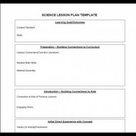 Great Example Of Lesson Plan In Science Elementary Science Lesson Plan Template | Professional Temp