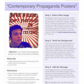 Great High School Lesson Plan On Propaganda Contemporary Propaganda Posters: Free Lesson Plan Download - Th