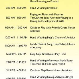 Great Infant Lesson Plan Ideas Best 25 Daycare Schedule Ideas On Pinterest Home Daycare Hom