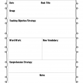 Great Kindergarten Lesson Plans For Reading Guided Reading Lesson Plan Template | For The Classroo