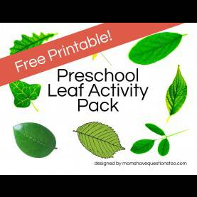 Great Leaf Activities For Preschoolers Free Printable Leaf Activity Pack For Preschool Aged Children. Ha
