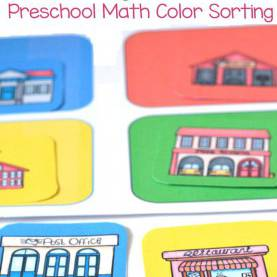 Great Neighborhood Preschool Lesson Plans My Neighbourhood Preschool Math Color Sorting | Preschool Theme