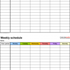 Great One Day Lesson Plan Template Pdf Free Weekly Schedule Templates For Pdf - 18 Templ
