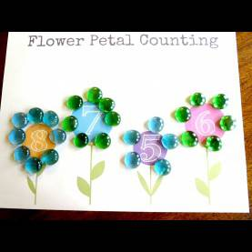 Great Plant Lesson Plans For Preschoolers Plant Theme: Preschool Math Flower Petal Counting (Free Printab