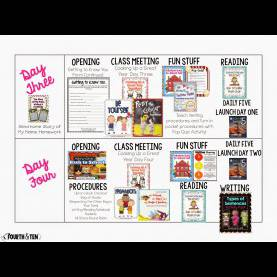 Interesting 1St Grade Lesson Plans On Community Fourth And Ten: My Back To School Lesson P