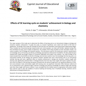 Interesting 5E Teaching Method Effects Of 5E Learning Cycle On Students' Achievement In Biolog