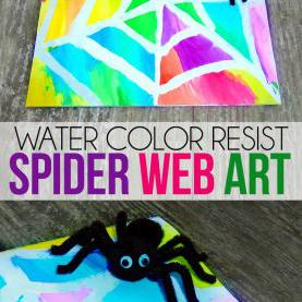 Interesting Art Lesson Plans Water Theme Water Color Resist Spider Web Kids Art | Spider Webs, Spider And W