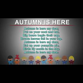 Interesting Autumn Rhymes Preschool Autumn Is Here | Kids Poems In English | Nursery Rhymes Songs Wit