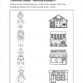 Interesting Community Helpers Matching Worksheet Community Helpers Matching Worksheets - In These Worksheets Kid