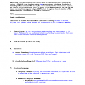 Interesting Edtpa Language Function Mge Lesson Plan Template Instructions: Complete This Lesson