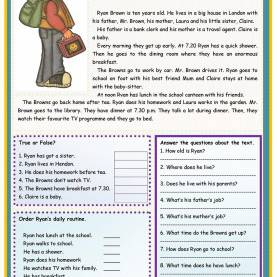 Interesting Esl Reading Lessons Meet Ryan Brown | Ingles 2 | Pinterest | Met, Brown And Eng