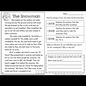 Interesting Guided Reading Comprehension Year 3 Freebie! Text Evidence Reading Comprehension Passage. #snowma