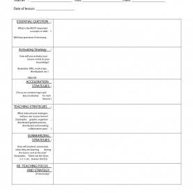 Interesting Learning Focused Lesson Plan Template Pdf Example Lesson Plan Template - Commonpenc