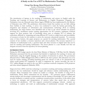 Interesting Lesson Plan In Science With Ict Integration A Study On The Use Of Ict In Mathematics Teaching (Pdf Downloa