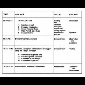 Interesting Lesson Plan On Advanced Resuscitation Oxygen Therapy Lesson Plan | Hm