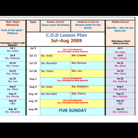 Interesting Lesson Plans For Children'S Ministry Children'S Church Schedule Template - Google Search | Children'