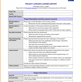 Interesting Lessons Learned Document Control Project: Project Lessons Learned Temp