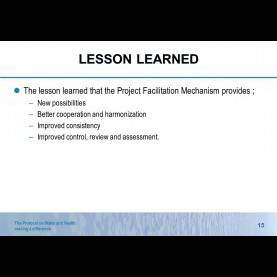 Interesting Lessons Learned Facilitation 1 The Protocol On Water And Health: Making A Difference Th