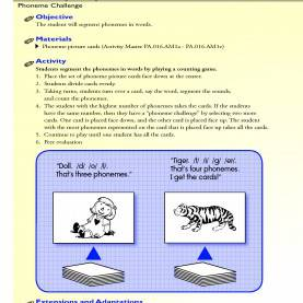 Interesting Phonemic Awareness Lesson Plans First Grade The Student Will Segment Phonemes In Words.   Rf.1.2D First Grad