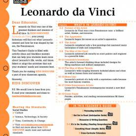 Interesting Renaissance Lesson Plans Leonardo da Vinci - Kids Discover | Art Ed | Pinterest | Ar