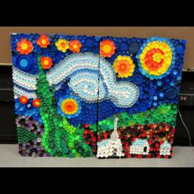 Interesting School Art Activities Mrs. Art Teacher!: Every Cap Counts-Our Bottle Cap M