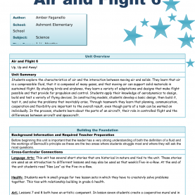 Interesting Science For Grade 6 Lessons Air And Flight Unit Plan Resource Preview | Grade 6 Air An