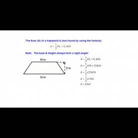 Interesting Trapezoid Area Formula Finding The Area Of A Trapezoid - Ppt Video Online Down