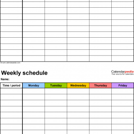 Interesting Weekly Class Planner Weekly School Schedule - Ins.Ssrenterprise