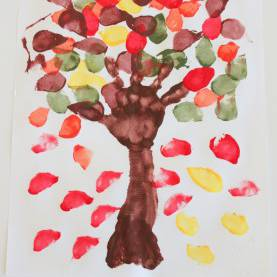 Newest Autumn Leaves Activities For Toddlers Bringing Fall To The Desert... With A Fall Tree Painting - Mam