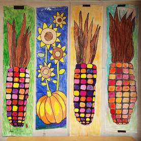Newest Fall Art Projects Middle School Large Banner Art Project, Perfect For Fall Festivals On A Lo