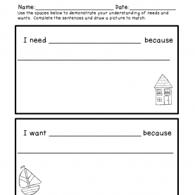 Newest Kindergarten Lesson Plans Needs And Wants Throwback Thursday And Weekend Deal | Little Girl Stuf