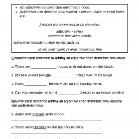 Newest Lesson Plan About Adjectives Adjectives Worksheets | Regular Adjectives Worksh