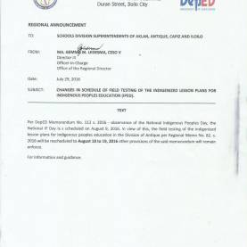 Newest Lesson Plan Deped Changes In Schedule Of Field Testing Of The Indigenized Lesso