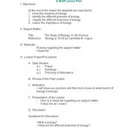 Newest Lesson Plan Example Detailed Sample Of Brief Lesson Plan Example Semi Detailed For Kindergarte