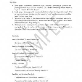 Newest Lesson Plan Outline Sample Native Food Outline For The Nys Native American Studies Curric