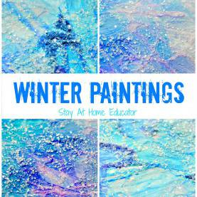 Newest Lesson Plans For Preschool Winter Theme Sparkly Winter Paintings Make Gorgeous Winter Process Ar