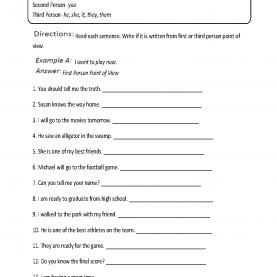 Newest Lesson Plans For Teaching 1St And 3Rd Person First, Second And Third Person Point Of View Workshee