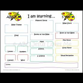 Newest Preschool Lesson Plans Age 3 3 Year Curriculum - Lesson Plan #1 | Abc Jesus Loves Me | Thing