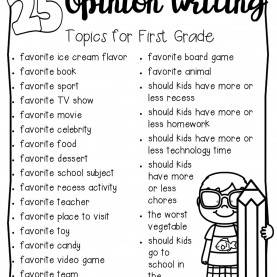 Regular First Grade Topics Opinion Writing - First Grade Centers And