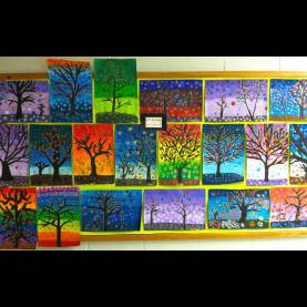 Regular Grade 2 Art Lessons Getting My Art Wings Back: Grade 6 Patterned Tree Des