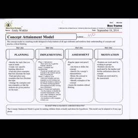 Regular How To Make A Lesson Plan In Math Concept Attainment Model - Fall