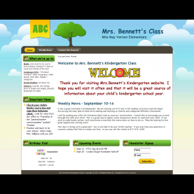 Regular Kindergarten Teacher Websites Web Design Portfolio And Business Branding - Dee'S Solution