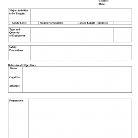 Regular Lesson Format Template Inspirational Pe Lesson Plan Template | Josh-Hutche