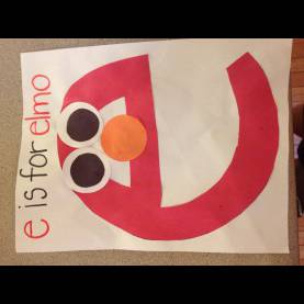Regular Lesson Plans For Preschool Letter E E Is For Elmo (Lowercase Letter E Craft) | For My Little On