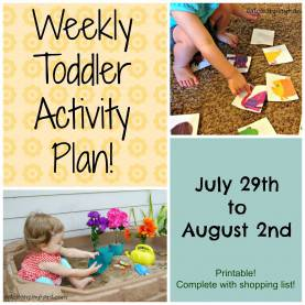 Regular Lesson Plans For Toddlers For July Weekly Toddler Activity Plan, July 29Th To August 2Nd, 2013 €? Ea