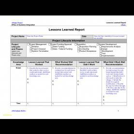 Regular Lessons Learnt Report Lovely Lessons Learnt Report Templateprofessional Template