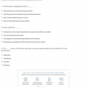 Regular Seven Step Lesson Plan Of Madeline Hunter Quiz & Worksheet - Designing Adult Lesson Plans | Study