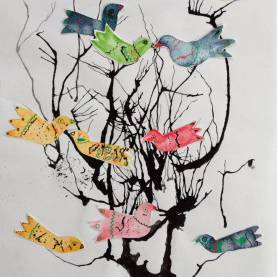 Regular Unique Art Lessons Unique Art Project To Try With Kids: Make Mixed Media Birds An