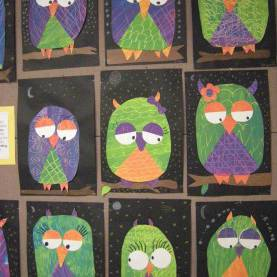 Simple 1St And 2Nd Grade Art Lesson Plans Secondary Color Owls.....Cute Idea, But I Would Have The Kids Cu